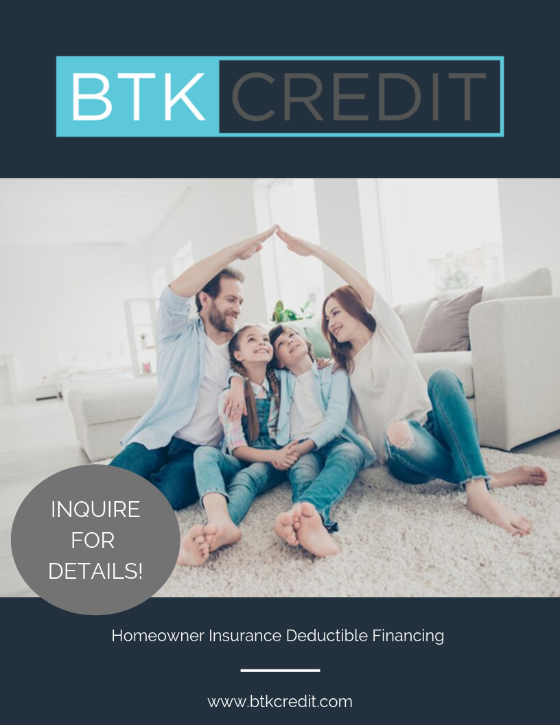 BTK Credit Roof Repair Replacement Financing