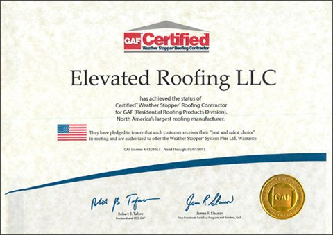 GAF - Certified Weather Stopper Roofing Contractor