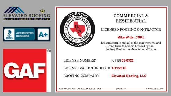Best Licensed Roofing Contractor In Texas Elevated Roofing