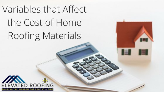 How to Estimate the Cost of Home Roofing Materials