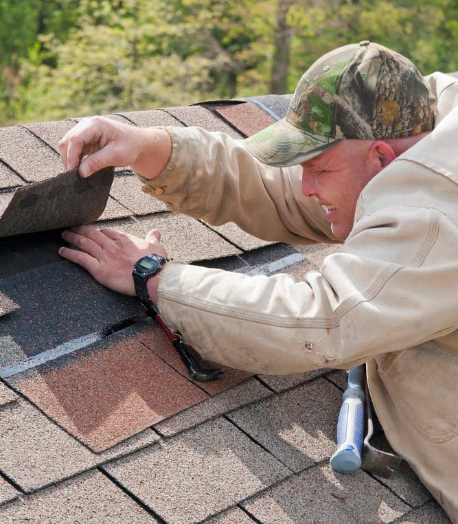 Roofer Making Repairs | Roofers in Lewisville