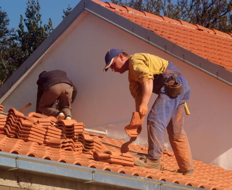 Roofers on Residential House