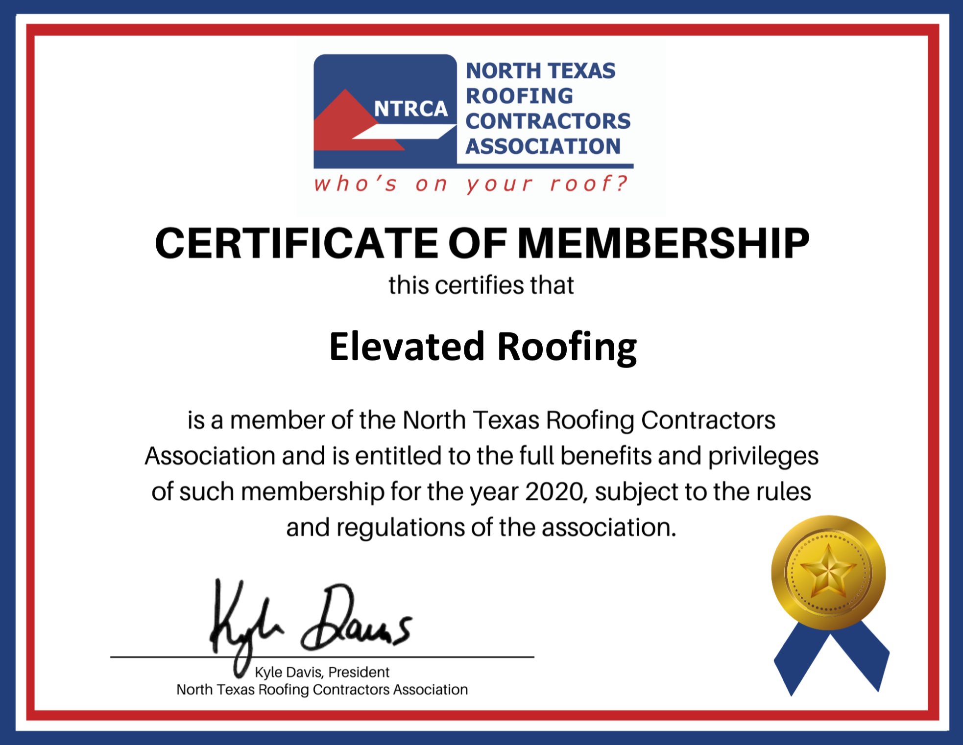 Elevated Roofing - NTRCA - North Texas Roofing Contractors Association