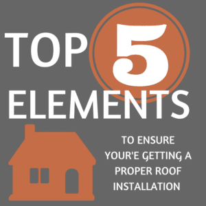 TOP 5 elements roof installation | Elevated Roofing | Roofing Contractor Plano, TX