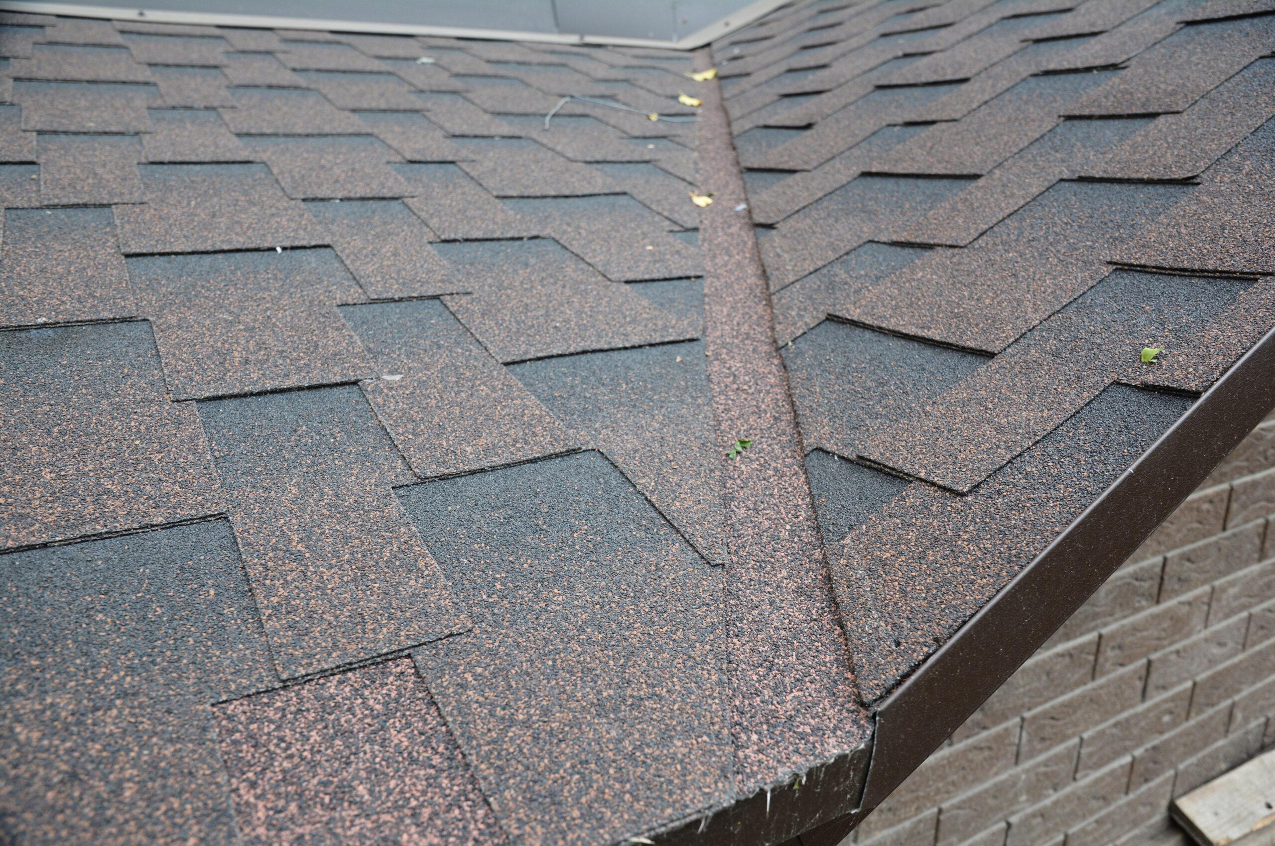 Shingled roof with flashing